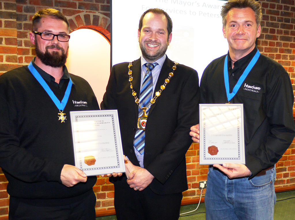 Ben Errey & Steve Jacob were also recipients of the Mayor's award for their Services to Petersfield.