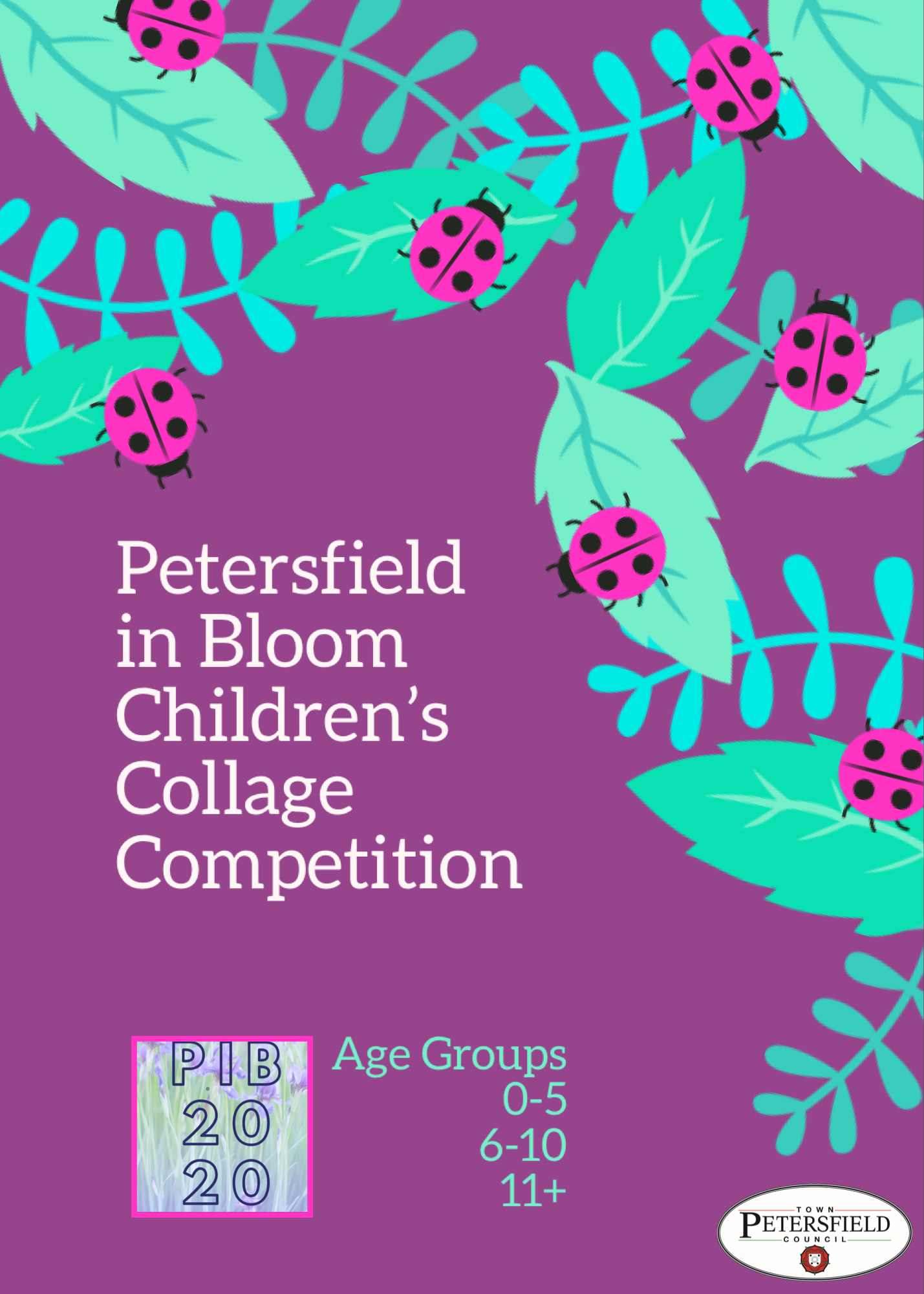 petersfield in bloom collage competition poster