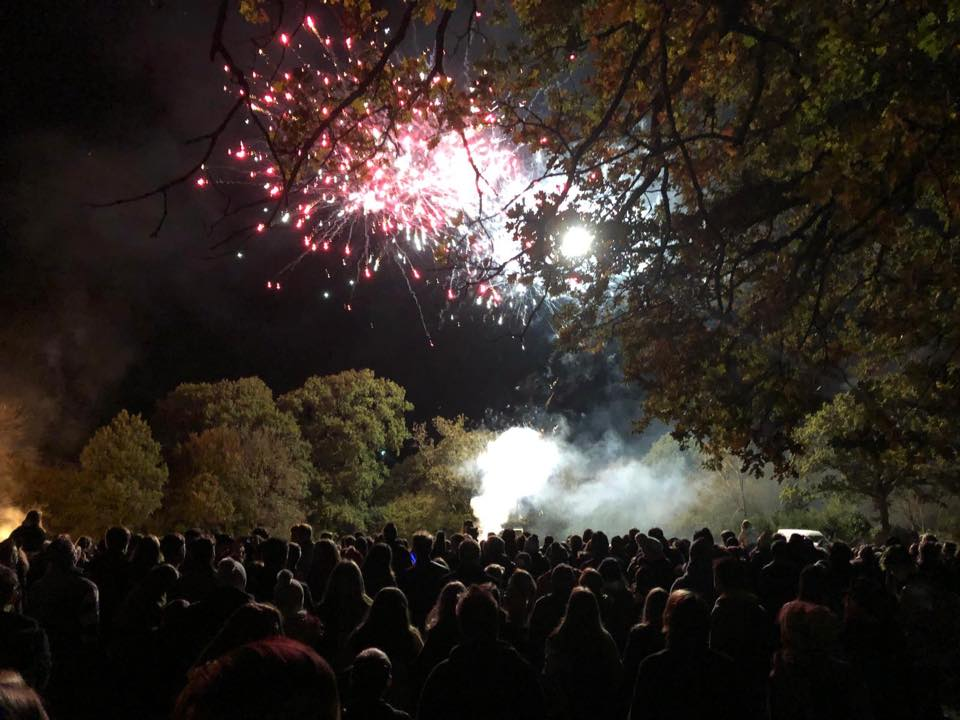 firework display at Bell Hill Recreation Ground